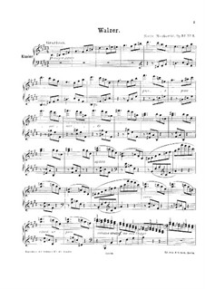Three Pieces for Piano, Op.32: No.3 valsa by Moritz Moszkowski