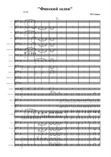 The Gulf of Finland: For voices and orchestra by Mikhail Glinka