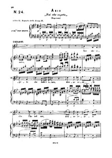 Voi, che sapete: Partitura Piano-vocal by Wolfgang Amadeus Mozart