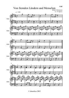 No.1 Of Strange Lands and Peoples: para acordeão ou Bayan by Robert Schumann