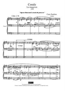 Choral in a major for organ, CS090: Choral in a major for organ by Santino Cara