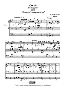 Choral in g major for organ, CS091: Choral in g major for organ by Santino Cara