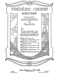 Waltzes, Op. posth.70: No.2 in F Minor. Version by Godowsky by Frédéric Chopin