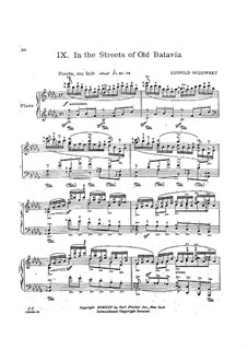 Java Suite: No.9 In the Streets of Old Batavia by Leopold Godowsky
