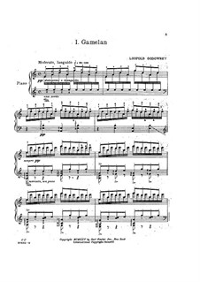 Java Suite: No.1 Gamelan by Leopold Godowsky