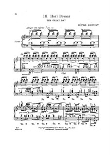 Java Suite: No.3 Hari Besaar by Leopold Godowsky