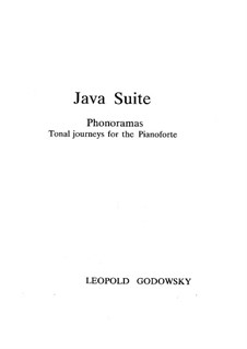 Java Suite: No.1-4 by Leopold Godowsky