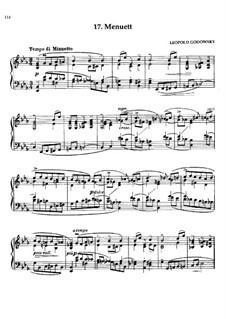 Waltz Masks: No.17 Minuet by Leopold Godowsky
