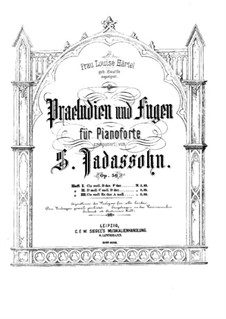 Preludes and Fugues for Piano, Op.56: Preludes and Fugues for Piano by Salomon Jadassohn