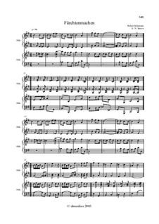 No.11 Fürchtenmachen (Frightening): For accordion (or bayan) and piano by Robert Schumann
