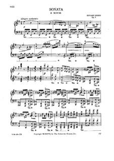 Sonata for Piano in E Minor, Op.7: movimento I by Edvard Grieg