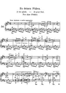 Lyric Pieces, Op.68: No.3 At Your Feet by Edvard Grieg