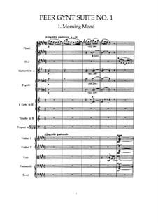 Suite No.1, Op.46: Partitura completa by Edvard Grieg
