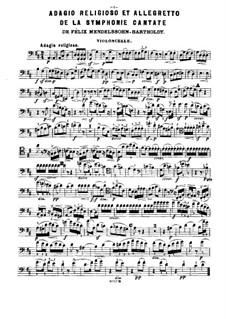 Fragments des symphonies célèbres: Volume V, for piano trio – cello part by Felix Mendelssohn-Bartholdy