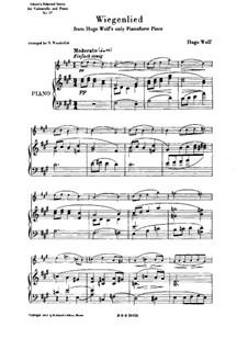 Cradle Song (Berceuse): para Violoncelo e piano by Hugo Wolf