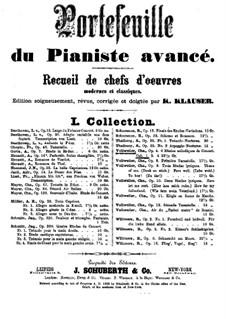 Six Concert Etudes for Piano. Book I, Op.4 No.1-3: Six Concert Etudes for Piano. Book I by Charles Vollweiler