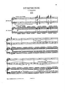 Simphony in D Minor, Op.48: Movimento III, para dois pianos de quatro mãos by César Franck