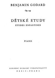 Etudes for Piano, Op.149: Études enfantines (Book I) by Benjamin Godard