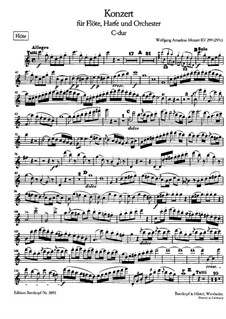 Concerto for Flute, Harp and Orchestra in C Major, K.299: parte flauta by Wolfgang Amadeus Mozart
