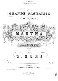 Martha, or The Market at Richmond: Fantasia for piano No.1 by Friedrich von Flotow