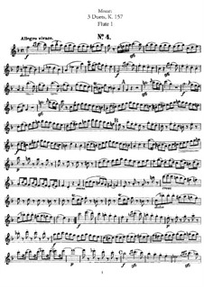 Duets for Two Flutes: Partes by Wolfgang Amadeus Mozart