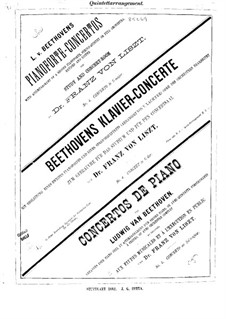 Complete Concerto: Version for piano and string quintet – string parts by Ludwig van Beethoven