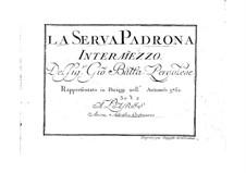 La serva padrona (The Servant Turned Mistress): partitura completa by Giovanni Battista Pergolesi