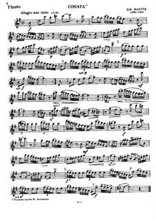 Sonata for Flute and Piano: parte Solo by Giovanni Benedetto Platti