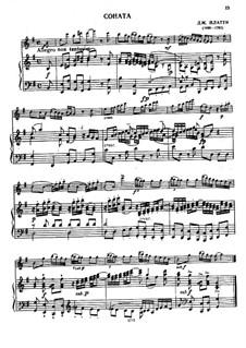 Sonata for Flute and Piano: partitura by Giovanni Benedetto Platti