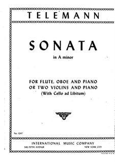 Trio Sonata in A Minor, TWV 42:a4: Partes by Georg Philipp Telemann