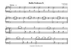 Ballo Tedesco: No.10 by Joseph Haydn