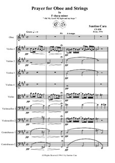Choral in f sharp minor for oboe and orchestra, CS038: Choral in f sharp minor for oboe and orchestra by Santino Cara