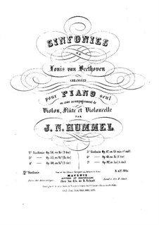 Symphony No.2, Op.36: Version for piano, flute, violin and cello by Ludwig van Beethoven