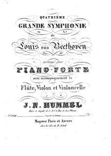Symphony No.4, Op.60: Version for flute, violin, cello and piano by Ludwig van Beethoven