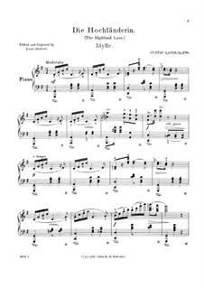 Die Hochländerin (The Highland Lass), Op.278: para um único musico (Editado por H. Bulow) by Gustav Lange