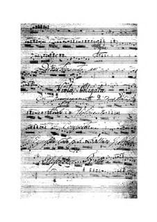 Divertimento for Viola and String Quartet, BI 330: Divertimento for Viola and String Quartet by Alessandro Rolla