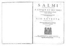 Salmi concertati con motetti et alcune canzoni, Op.1: Salmi concertati con motetti et alcune canzoni by Giovanni Rovetta