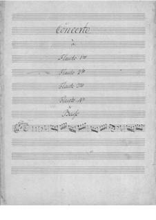 Concerto for Four Flutes and Basso Continuo: Concerto for Four Flutes and Basso Continuo by Johann Christian Schickhardt