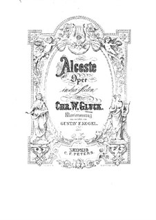 Alceste, Wq.44: Partitura Piano-vocal by Christoph Willibald Gluck