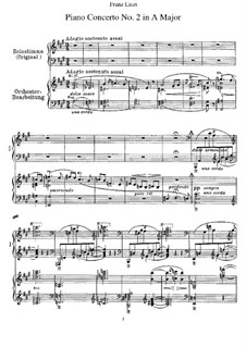 Piano Concerto No.2 (for Two Pianos Four Hands), S.651: Partitura piano by Franz Liszt