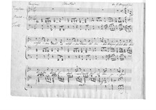 Le berceuse (Slumber Song), D.527 Op.24 No.2: Manuscript by Franz Schubert