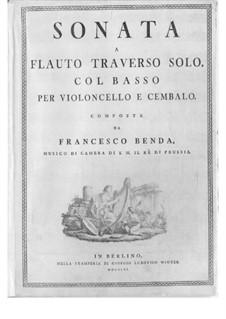 Sonata for Flute and Basso Continuo in E Minor: Sonata for Flute and Basso Continuo in E Minor by Franz Benda