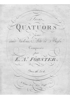 String Quartets, Op.16: String Quartets by Emanuel Aloys Förster