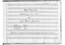 Don Trastullo. Intermezzo a tre voci: Don Trastullo. Intermezzo a tre voci by Niccolò Jommelli