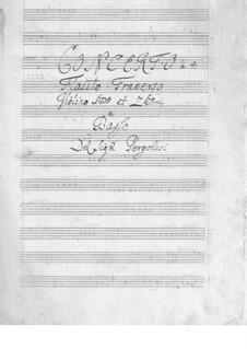 Flute Concerto in G Major: partes by Giovanni Battista Pergolesi
