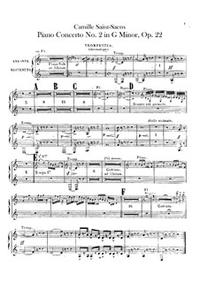 Concerto for Piano and Orchestra No.2 in G Minor, Op.22: parte trompeta by Camille Saint-Saëns