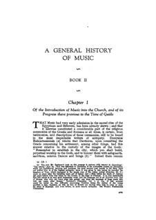 A General History of Music: livro II by Charles Burney