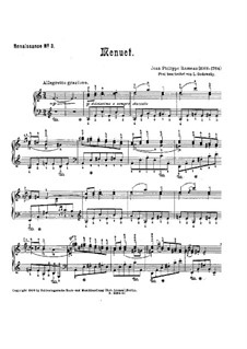 Minuet in A Minor: Minuet in A Minor by Jean-Philippe Rameau