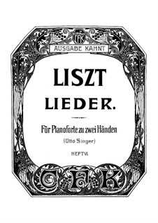 Collection Songs: Book VI, for piano by Franz Liszt