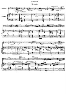 Sonata for Violin and Piano, Op.25: partitura by Karl Goldmark